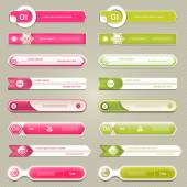 Modern infographics options banner. Vector illustration. can be used for workflow layout, diagram, number options, web design, prints. — Stock Vector