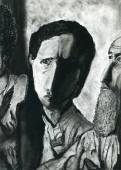 Original charcoal drawings on paper. — Stock Photo