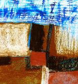 """Kağıt üzerinde """"Kare"""" orijinal resim. Karma ortam. Arka plan. — Stok fotoğraf"""