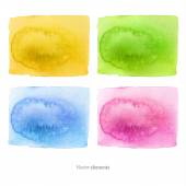 Watercolor background.  Abstract background. Hand drawn. Texture background. Vector. eps 8 — Vector de stock