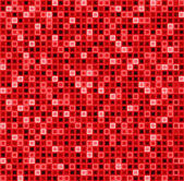Seamless abstract pattern with squares in red color. Vector geometrical background. — 图库矢量图片