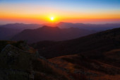 Mountain sunset autumn — Stock Photo