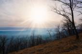 Mountain sunset autumn — Foto de Stock