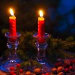 Christmas candles — Stock Photo #53836781