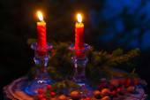 Christmas candles — Foto de Stock