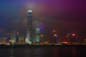 Avenue  Stars Laser Show in Hong Kong — Stock Photo
