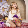 Christmas  girl  — Stock Photo #57595573