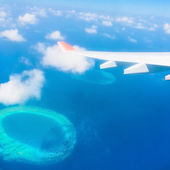 Maldives, view from the heights airplane — Stock Photo