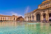 Republic  Square Yerevan Day — Stock Photo