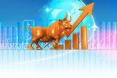 Economical Stock market graph — Stock Photo
