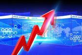 Economical Stock market graph — Stock Photo