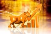 Economical Stock market background — Stock Photo