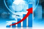 Digital illustration of economical business graph — Stock Photo