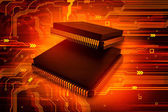 Electronic integrated circuit chip — Stockfoto