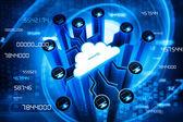 Secure cloud computing — Stock Photo