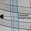 Sewing drawing with straight grain direction sign — Stock Photo #58226177