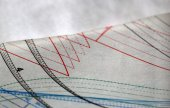 Sewing drawing and tracing paper laying on the table — ストック写真
