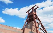 The tower for the coal mining at the factory — Stock Photo