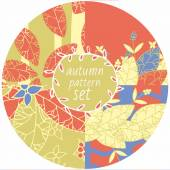 Autumn pattern set — Stock Vector