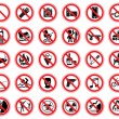 Set of prohibiting signs — Stock Vector #58433517