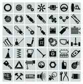Car parts, tools and accessories — Stockvector