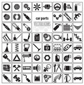 Car parts, tools and accessories — Stock Vector