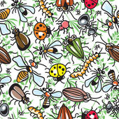 Decorative texture consisting of images of insects — Stockvektor