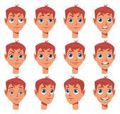 Set of facial expressions for cartoon etc. — Stock Vector