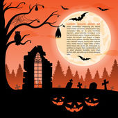 Halloween party background. Vector illustration — Stock Vector