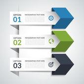 Modern arrow infographic elements — Stock Vector