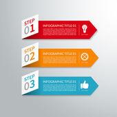 Modern minimal arrow paper infographic elements — Stock Vector