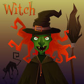 Evil Witch — Stock Vector