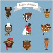 Fashion Hipster Animals set 3 — Stock Vector #55722101