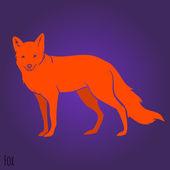 Red  fox silhouette — Cтоковый вектор