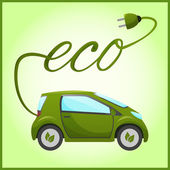 Electric car with eco design — Stock Vector