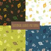 Leaves pattern 4 seasons — Stock Vector