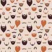 Beards and Mustaches pattern — Stock Vector