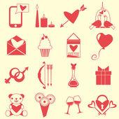 Love symbols set — Stock Vector