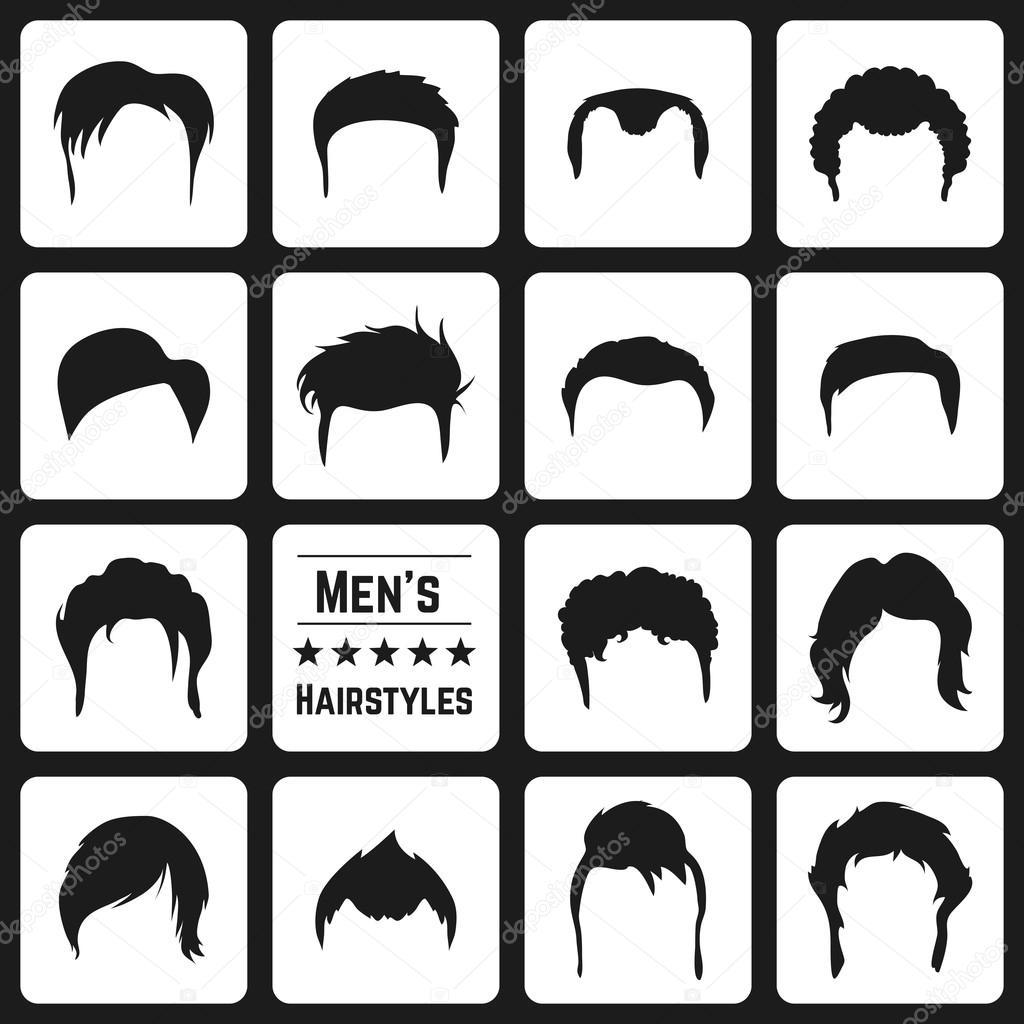 Incredible Types Of Mens Haircuts Stock Vector C Dashikka 70009687 Short Hairstyles Gunalazisus