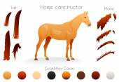 Create your own horse design withconstructor. — Stock Vector