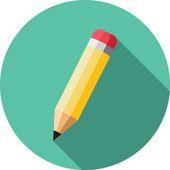 ícone de lápis — Vetor de Stock