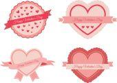 Valentine's day labels — Stock vektor