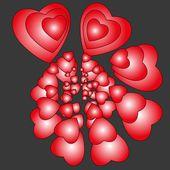 Hearts - abstracte achtergrond — Stockvector