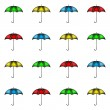 Pattern of colorful umbrellas — Stock Vector #61886107
