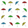 Pattern of colorful umbrellas — Stock Vector #61886109