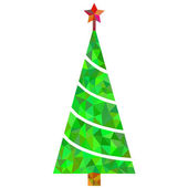 Christmas tree illustration — Stock Vector