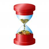 Red Hourglass  icon — Stock Vector