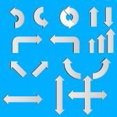 Conjunto de flechas blancas — Vector de stock