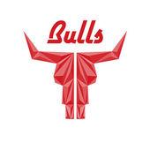 Skull of bull, abstract logo of company — Stock Vector