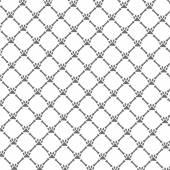 Patterns seamless dog footprints  background. — Stock Vector